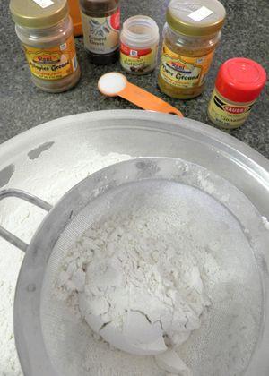 Loaded Hot Cross Buns -Sift flour