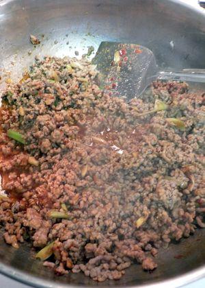 Ma Po Tofu - Add soybean paste & onions2