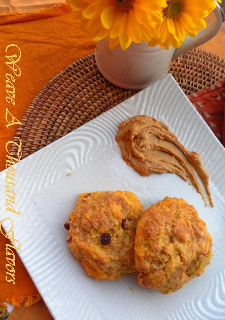 Pumpkin Cranberry Scones with pumpkin maple butter04