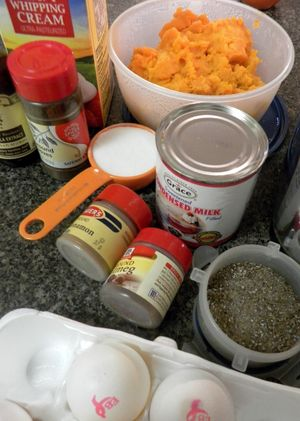 Sweet Potato Pie - Gather Ingredients