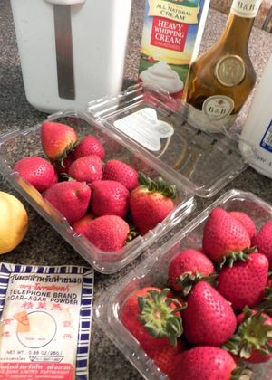 Gelatin-free Strawberry & Lemon Panna Cotta - Ingredients
