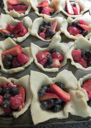 Berryful Parcels -Spoon berry filling into cups