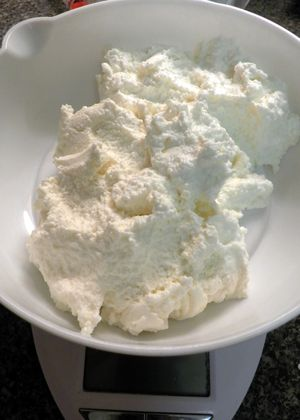 Channar Jilipi - Weigh Ricotta on kitchen scale