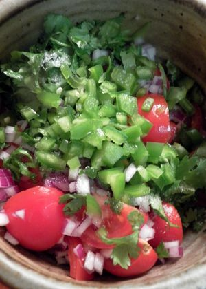Pico De Gallo - Chopped Ingredients
