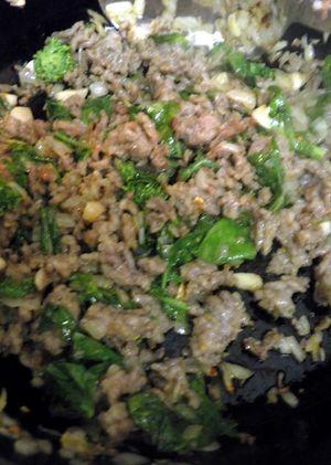 Orecchiette with Italian saisage & Rapini-Pistachio Pesto - Saute Rapini