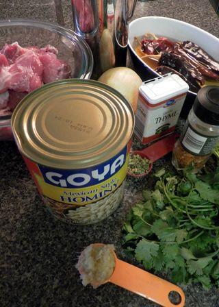 Pozole - Ingredients