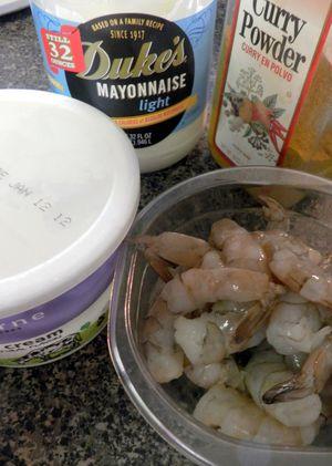 Curried Shrimp Devilled Eggs-Ingredients