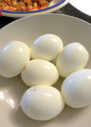 Curried Shrimp Devilled Eggs- Hard boiled eggs