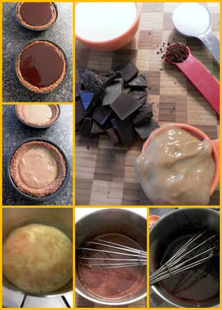 Karmel Sutra Tartlets - Filling collage
