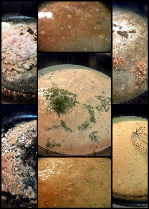 Dijon-Dill sauce collage