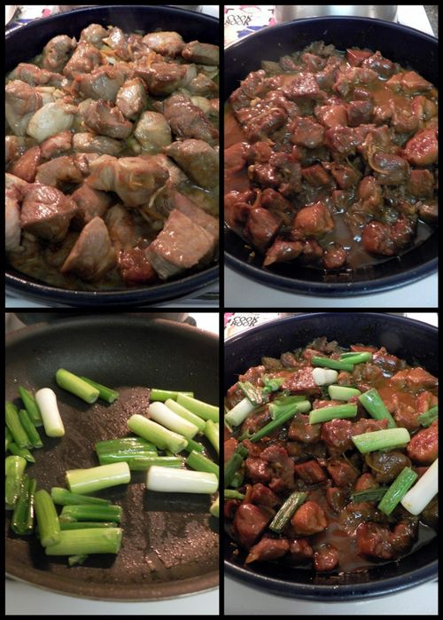 Vietnamese Caramel Claypot Pork - final steps pork collage