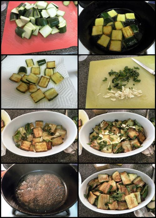 Italian Style Marinated Zucchini-collage