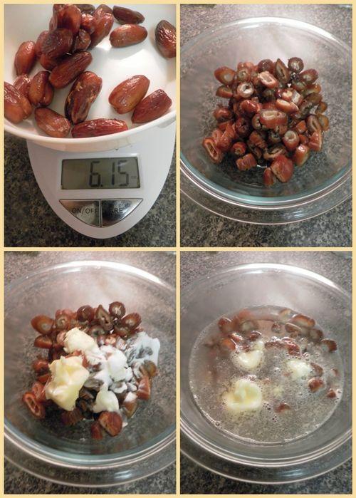 Date & Walnut Cake Lemon Icing- Dates collage