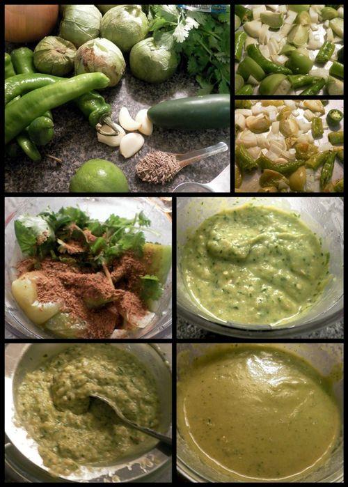 Tomatillo Salsa Verde collage