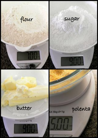 Orange & Polenta Cake -Measuring ingredients collage2