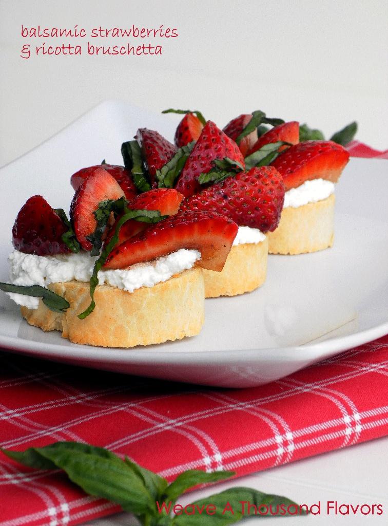 Balsamic Strawberries & Ricotta Bruschetta-01a