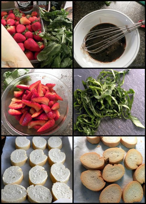 Stawberry Ricotta Bruschetta collage