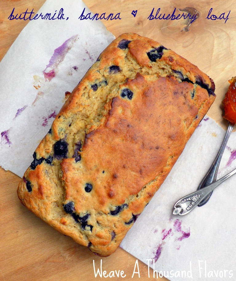 Buttermilk, Banana & Blueberry Loaf-1