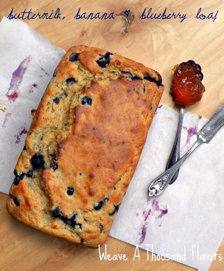 Buttermilk, Banana & Blueberry Loaf-2