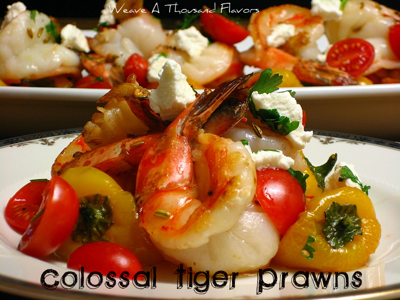 Colossal Prawns with Fennel, Roasted Peppers & Goat Cheese03-001