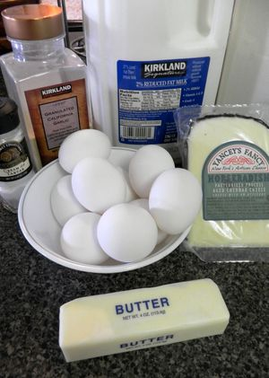 Horseradish Cheddar Souffle - Ingredients