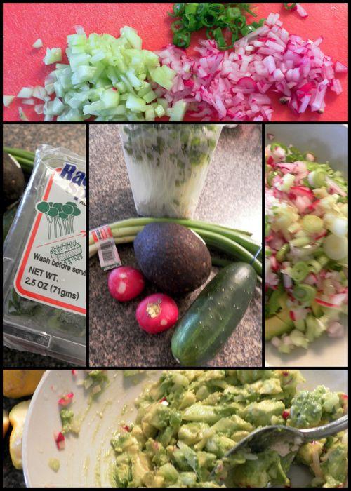 Garden Guacamole collage
