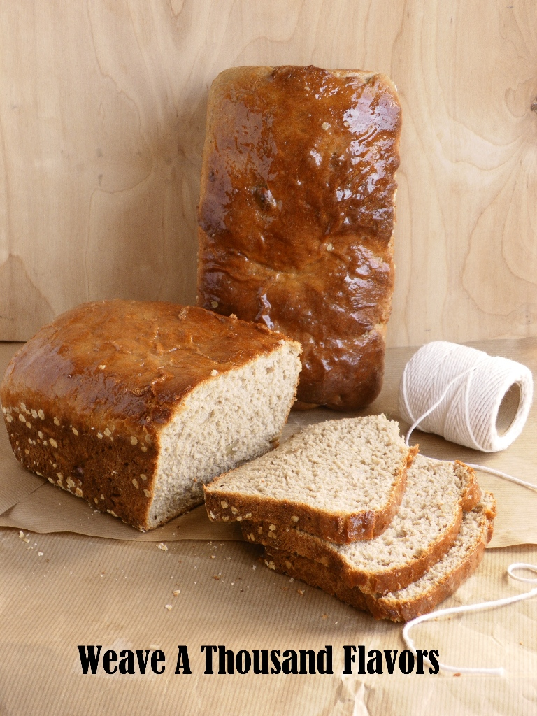 Whole wheat, oatmeal & walnut bread -01