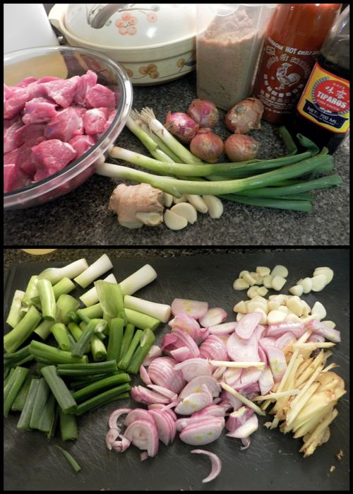 Vietnamese Caramel Claypot Pork - preparation collage
