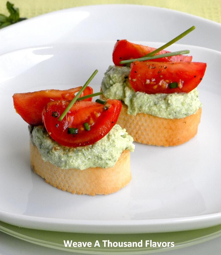Herb Ricotta & Balsamic tomato Bruschetta-02a