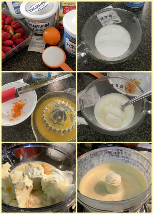 Cheesecake filling collage