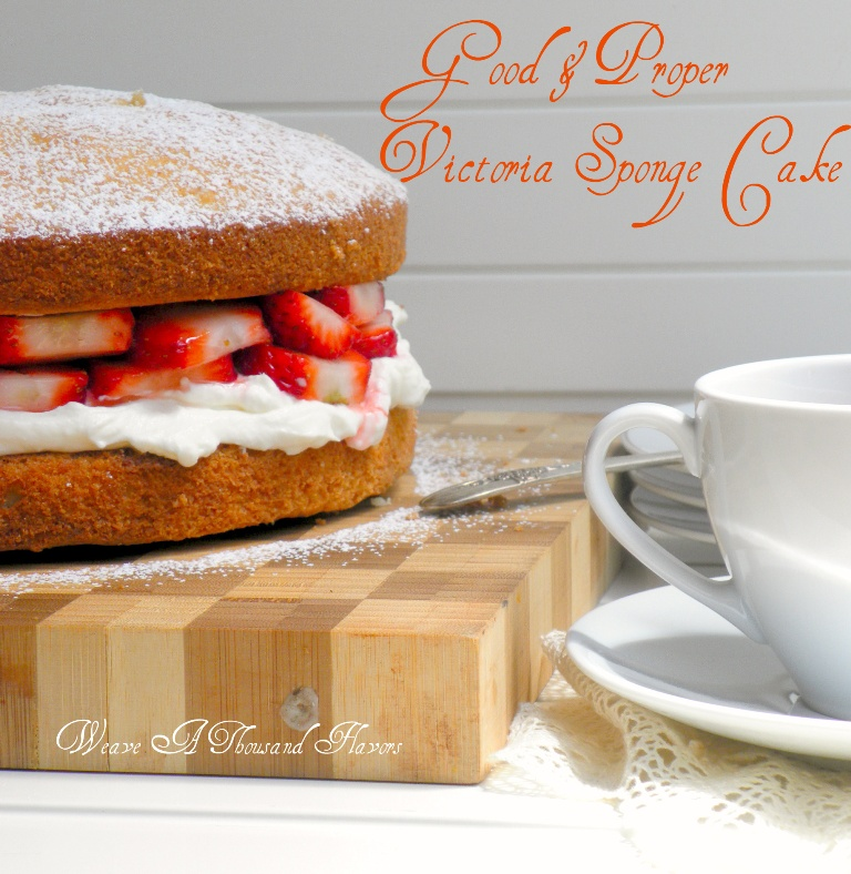 A Good and Proper Victoria Sponge Cake Weave a Thousand Flavors