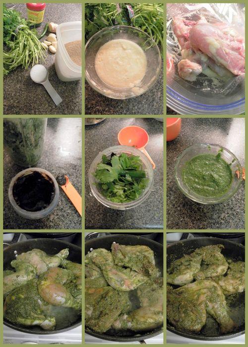 Goan Style Chicken Cafrael - collage