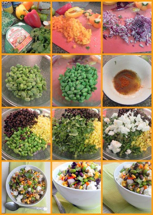 Bejeweled salsa cruda -collage