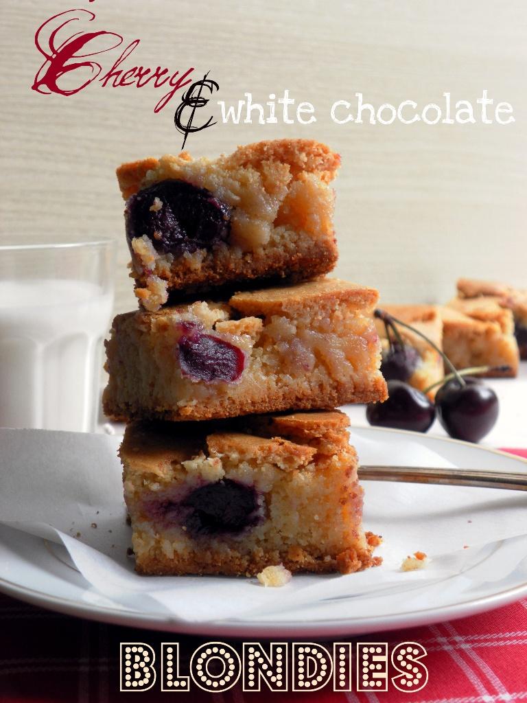 CHERRY & WHITE CHOCOLATE BLONDIES