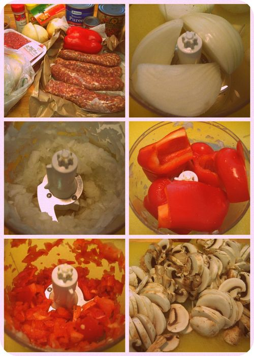 Baked Spaghetti - Ingredients collage-001