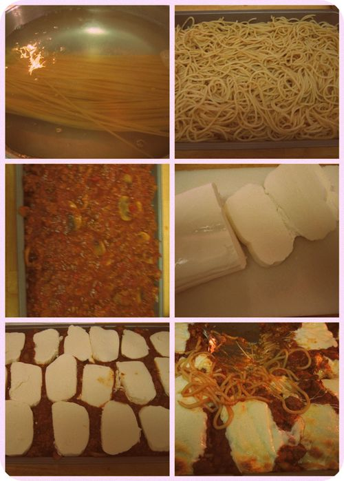 Baked Spaghetti - Assembly collage-001