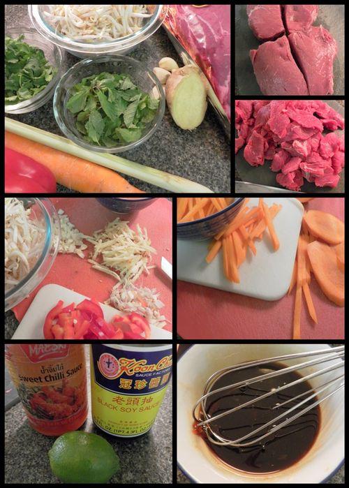 Thai Style Beef Stir fry-ingredients