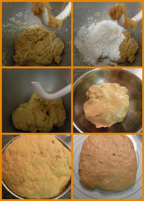 Pumpkin, Cardamom & Raisin Sandwich Bread - collage2