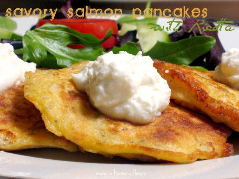 savory salmon pancakes