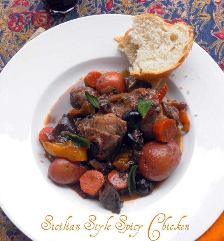 Sicilian Style Spicy Chicken