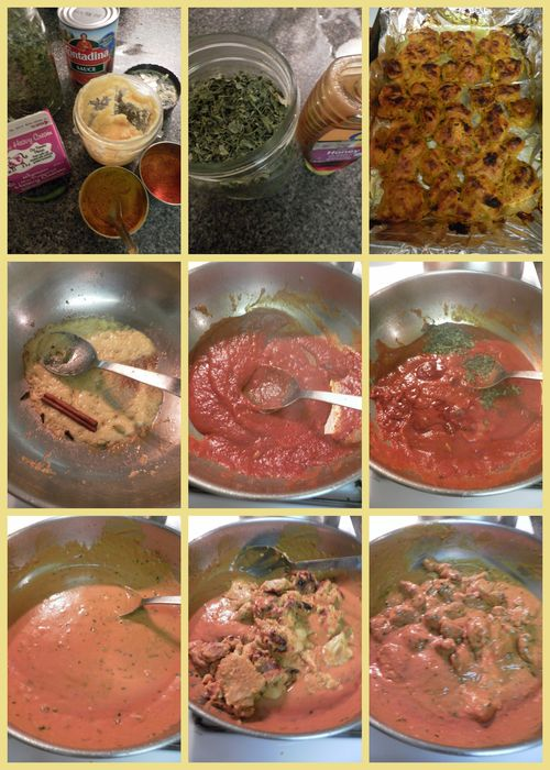 Butter chicken - collage2