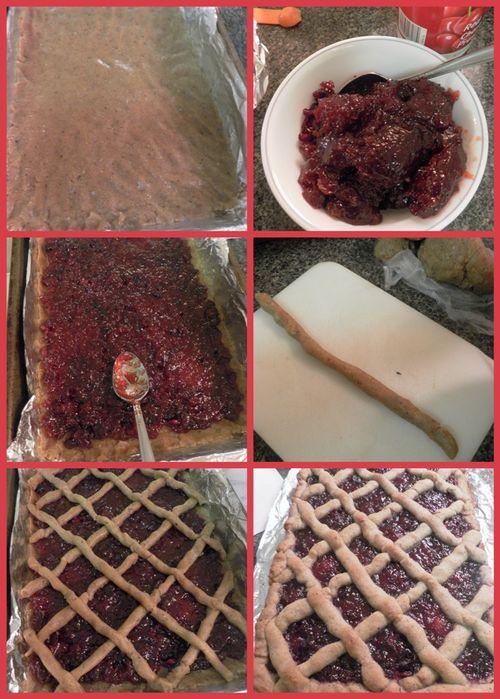 Cherry Linzer Bars - collage3