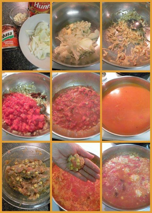 Shrimp & Dumpling soup - collage2