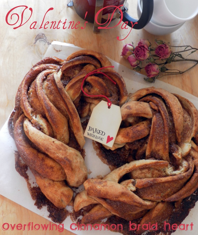Overflowing Cinnamon Braid Heart for Valentine's