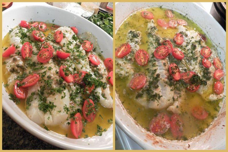 Mediterranean style cod-collage3
