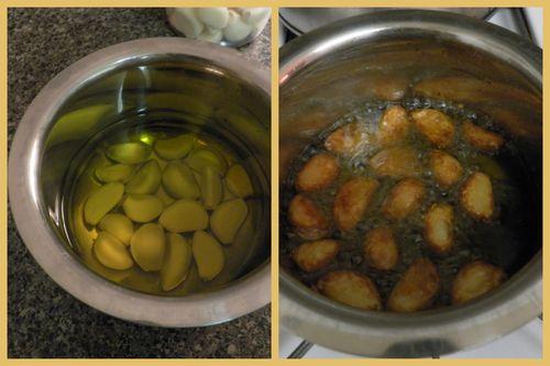 Poached sea bass -garlic oil