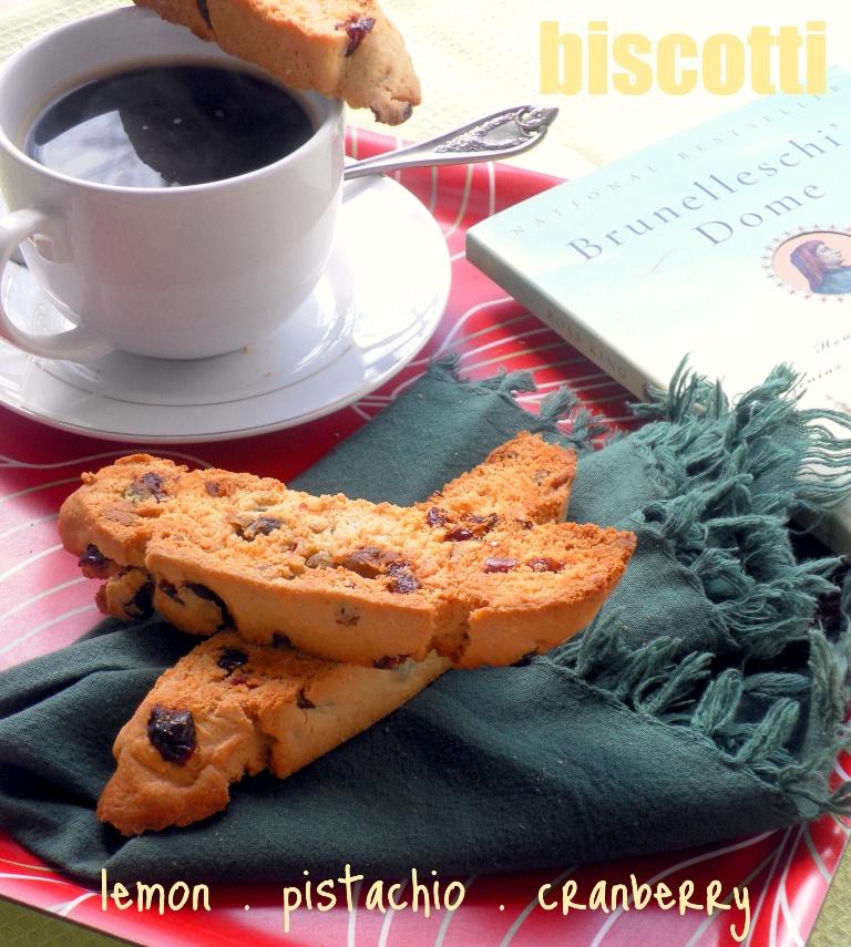 Lemon, Pistachio & Cranberry Biscotti