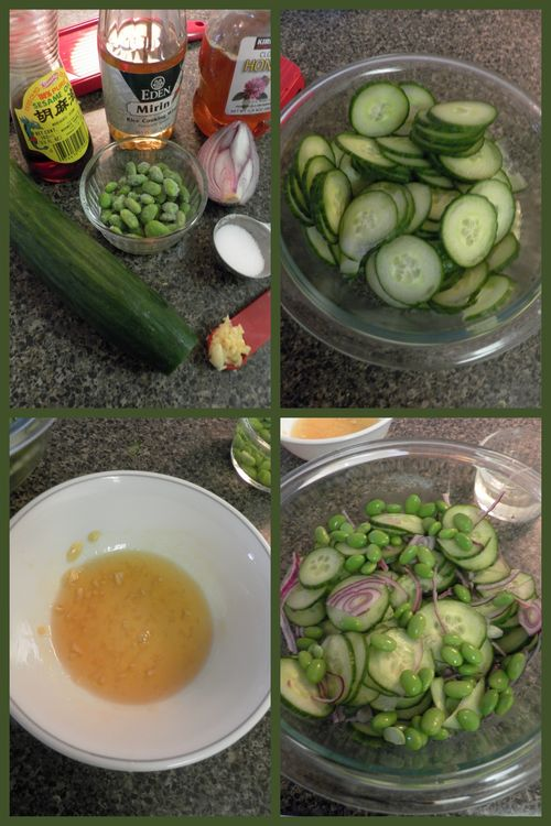 Cooling cucumber salad-collage