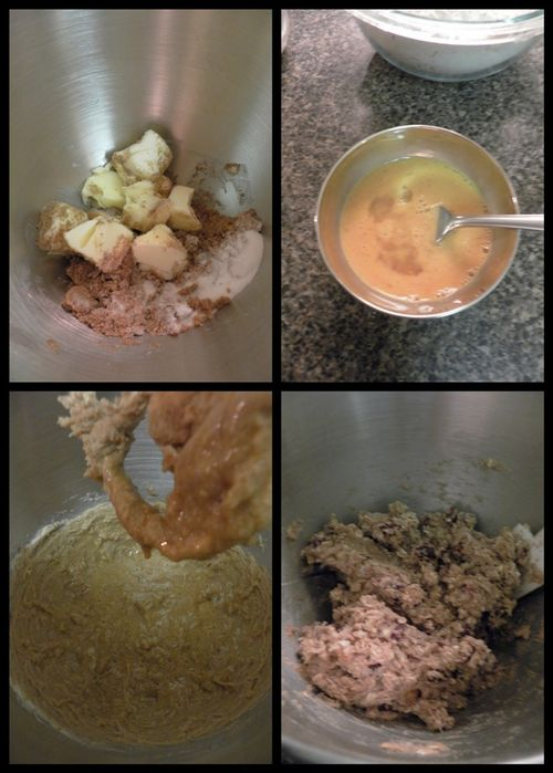 Chewy Oatmeal & Fruit Cookies - Dough collage