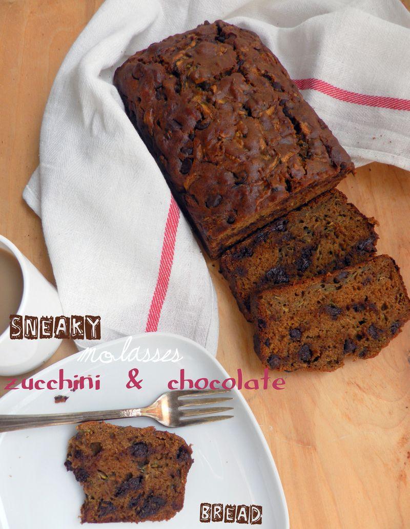 Sneaky Molasses, Zucchini & Chocolate Bread